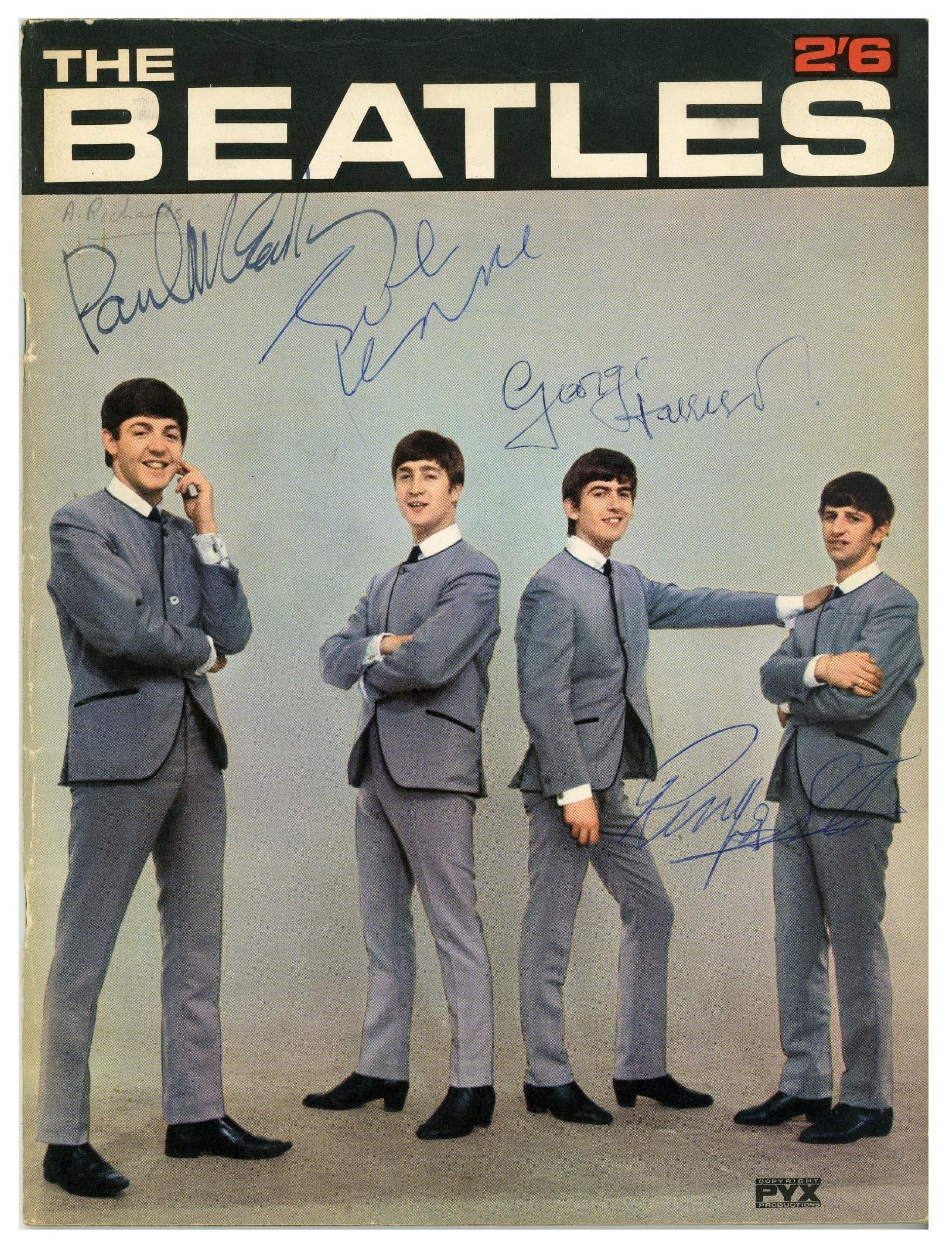 This Is A Great Image To Have Signed By The Beatles Especially In Color 18500