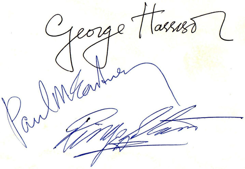 The Beatles Autographs - Presented by Frank Caiazzo ...